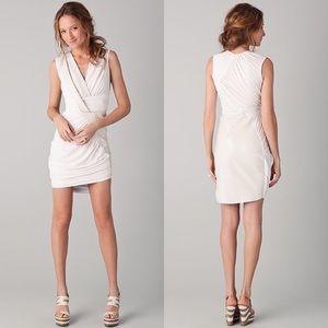 Doo.Ri White Leather Draped Dress